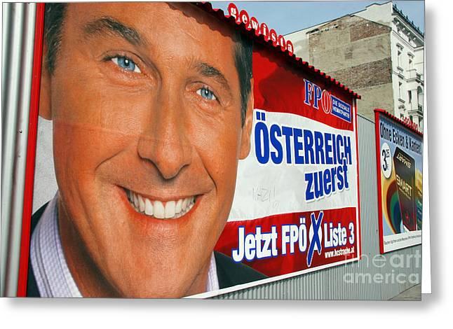 Austrian Politics Greeting Card by Jason O Watson