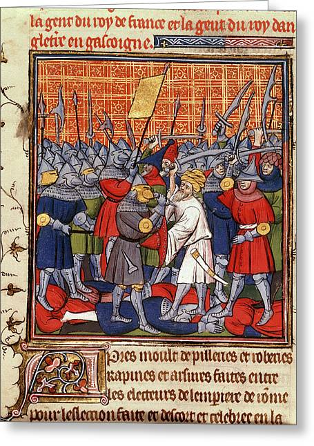 Austrians And Saracens Defeated Greeting Card by British Library