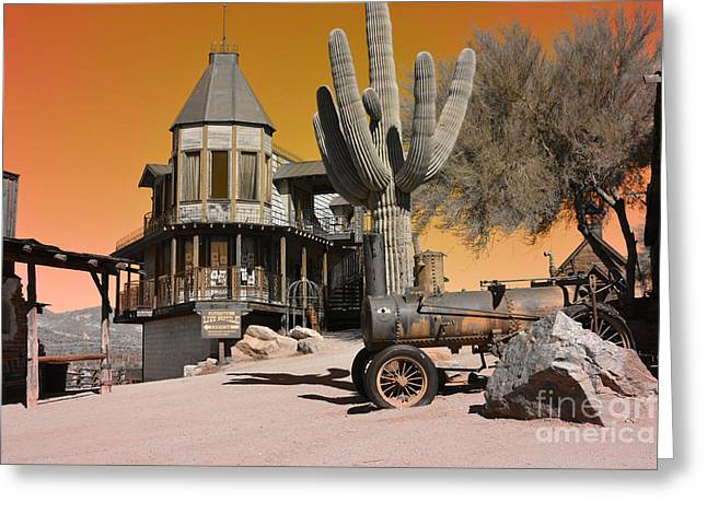 Sunset Framed Prints Greeting Cards - Authentic Ghost Town Greeting Card by Beverly Guilliams