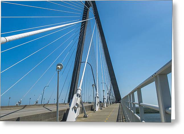 Masts Greeting Cards - Authur Ravenel Jr Bridge Greeting Card by Willie Harper
