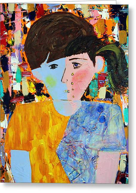 Disorder Greeting Cards - Autism - Child and Mother Greeting Card by Carmencita Balagtas