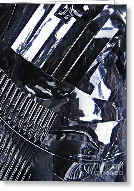 Glass And Metal Art Greeting Cards - Auto Headlight 10 Greeting Card by Sarah Loft