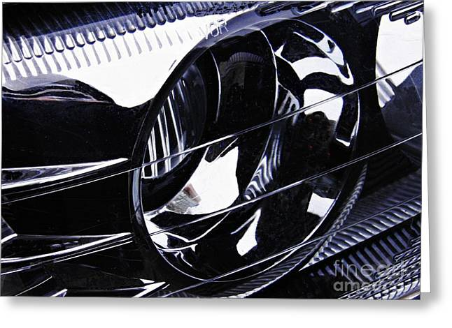 155 Greeting Cards - Auto Headlight 155 Greeting Card by Sarah Loft