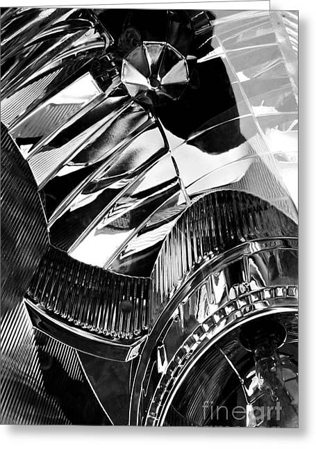 Glass And Metal Art Greeting Cards - Auto Headlight 162 Greeting Card by Sarah Loft