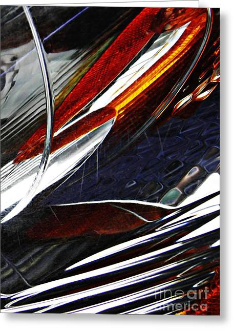 Car Part Greeting Cards - Auto Headlight 171 Greeting Card by Sarah Loft