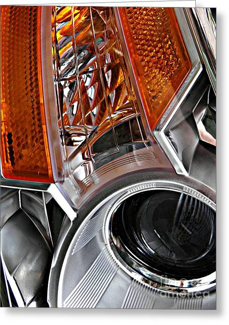 Sarah Loft Greeting Cards - Auto Headlight 25 Greeting Card by Sarah Loft