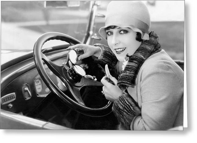 Auto Horn Button Vanity Case Greeting Card by Underwood Archives