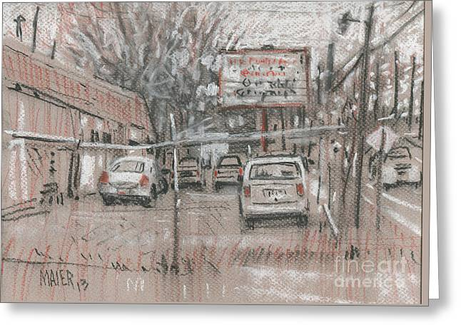 Auto Drawings Greeting Cards - Auto Repair Greeting Card by Donald Maier