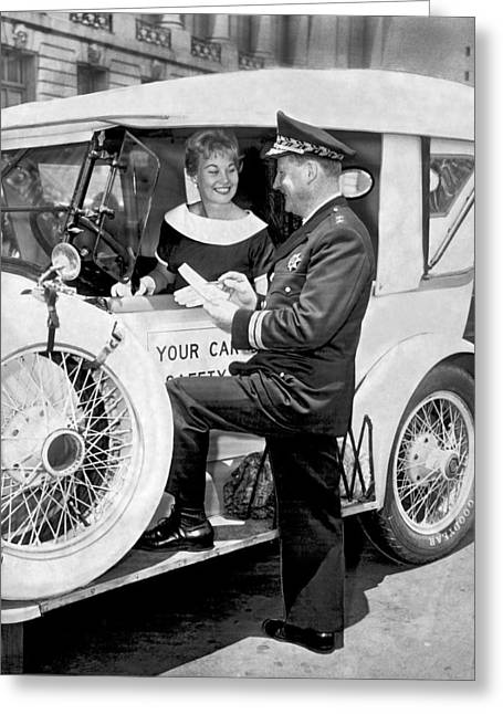Auto Safety Check Greeting Card by Underwood Archives