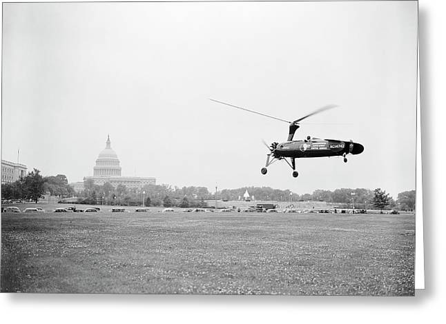 Autogyro Mail Shuttle Greeting Card by Library Of Congress