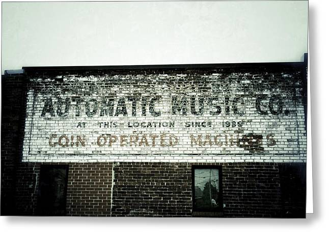 Ghost Signs Greeting Cards - Automatic Music Greeting Card by Brandon Addis