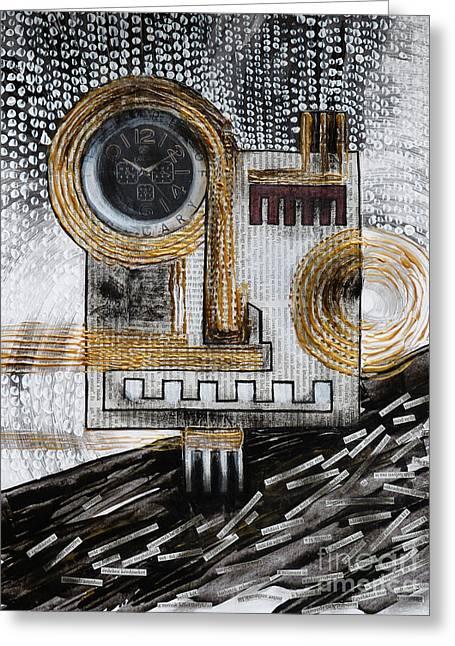 False Expressions Greeting Cards - Automaton - Barbarism I. Greeting Card by Szilvia Ponyiczki