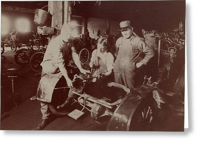 Automobile Factory, C1907 Greeting Card by Granger