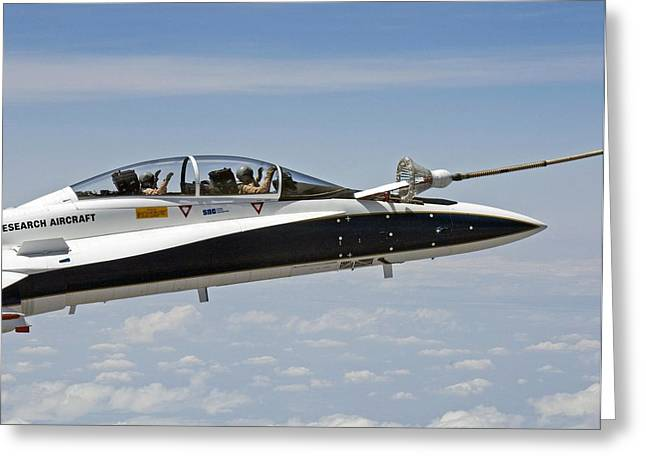 Number 18 Greeting Cards - Autonomous airborne refuelling testing Greeting Card by Science Photo Library