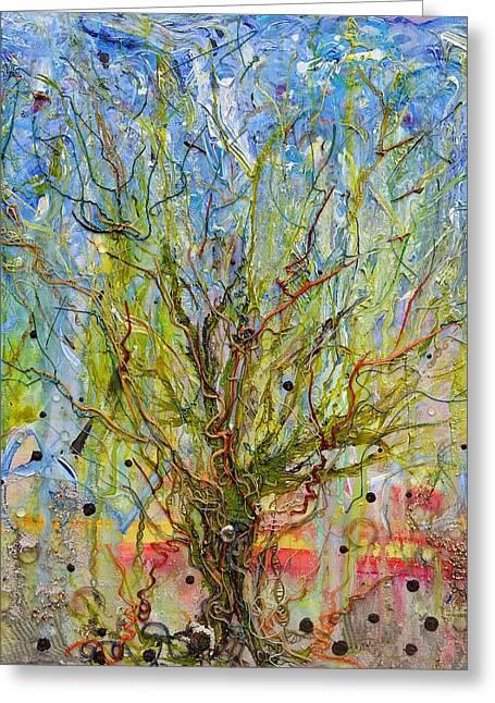 Valluzzi Greeting Cards - Autotroph Tree of Life 1 Greeting Card by Regina Valluzzi