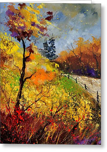 Autumn Landscape Paintings Greeting Cards - Autumn 454111 Greeting Card by Pol Ledent