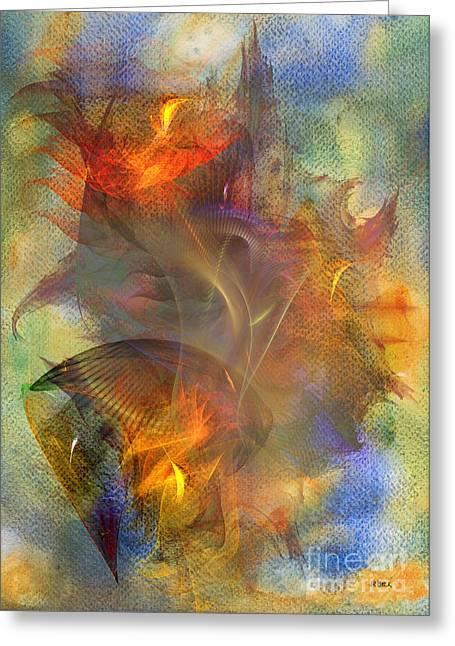 Robert R Mixed Media Greeting Cards - Autumn Ablaze Greeting Card by John Robert Beck