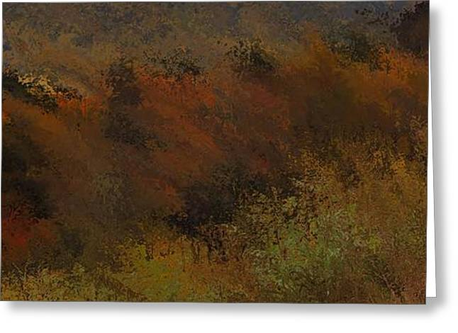 Reds Of Autumn Mixed Media Greeting Cards - Autumn Abstract Greeting Card by Dan Sproul