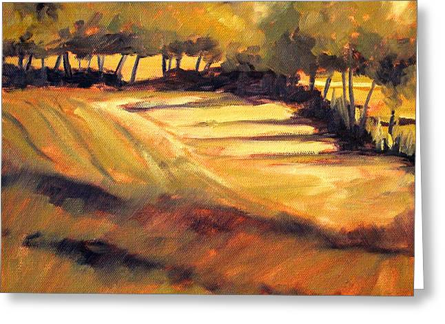 Value Greeting Cards - Autumn Abstract Greeting Card by Nancy Merkle
