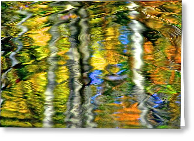 Family Picnic Greeting Cards - Autumn Abstract Greeting Card by Frozen in Time Fine Art Photography