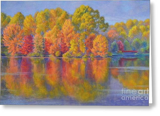 America Pastels Greeting Cards - Autumn Afternoon 1 Greeting Card by Fiona Craig