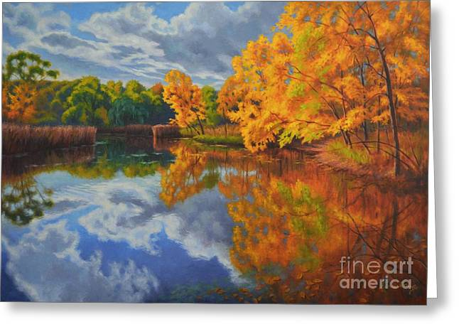 Autumn Landscape Paintings Greeting Cards - Autumn Afternoon 2 Greeting Card by Fiona Craig