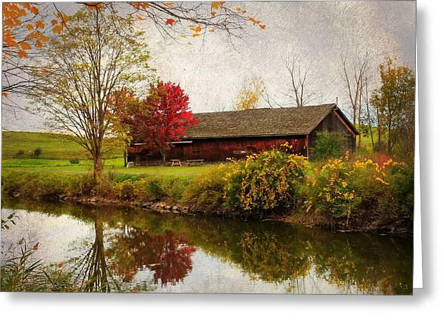 Syracuse Orange Greeting Cards - Autumn Afternoon Greeting Card by Janet Lee