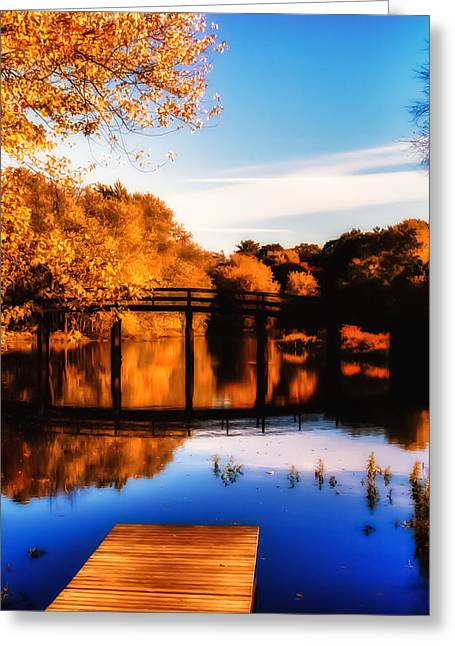 New England Autumn Greeting Cards - Autumn afternoon wears on Greeting Card by Jeff Folger