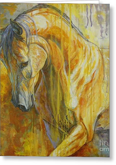 Horse Artist Greeting Cards - Autumn Air Greeting Card by Silvana Gabudean