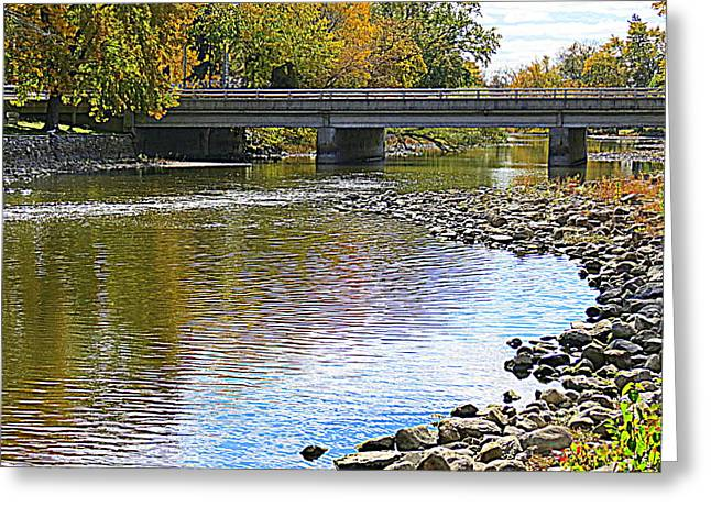 Kay Novy Greeting Cards - Autumn Along The Fox River Greeting Card by Kay Novy