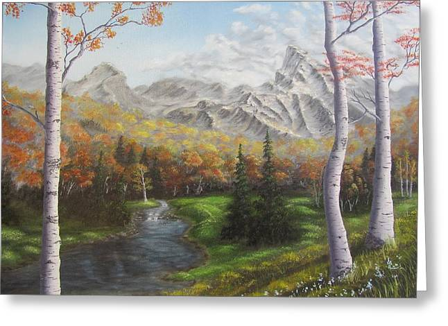 Babbling Greeting Cards - Autumn Alpine Meadow Greeting Card by Gavin Kutil