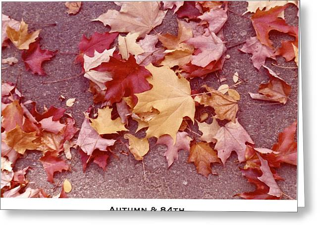 Leaf Peepers Greeting Cards - Autumn and Eighty Fourth Greeting Card by Lorenzo Laiken
