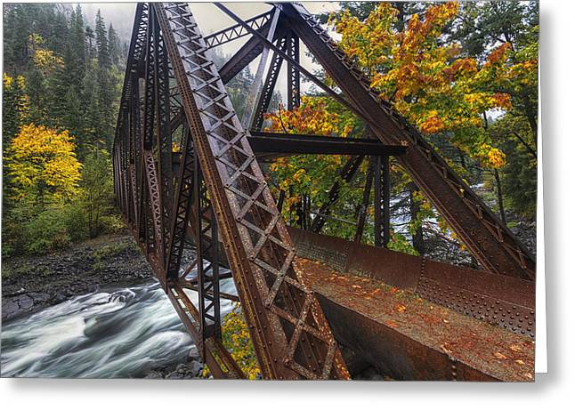 Pipeline Photographs Greeting Cards - Autumn and Iron Greeting Card by Mark Kiver