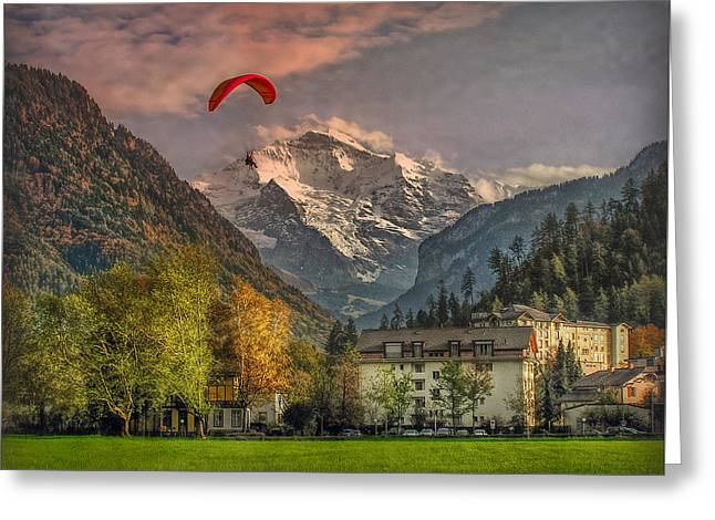 Berne Canton Greeting Cards - Autumn and the Jungfrau Greeting Card by Hanny Heim