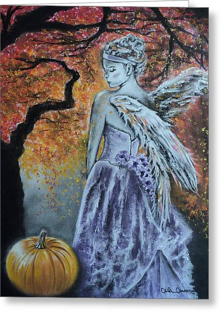 Autumn Angel Greeting Card by Carla Carson