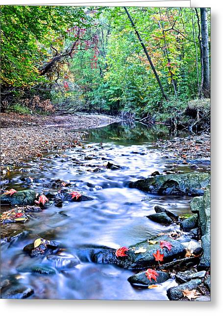 Autumn Arrives Greeting Card by Frozen in Time Fine Art Photography