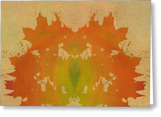 On Fire Mixed Media Greeting Cards - Autumn Art October Watercolor Greeting Card by Dan Sproul