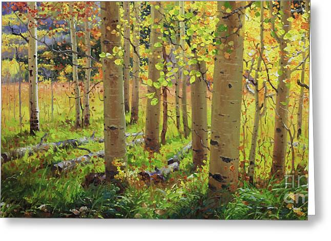 Autumn Aspens Greeting Cards - Autumn Aspen Greeting Card by Gary Kim