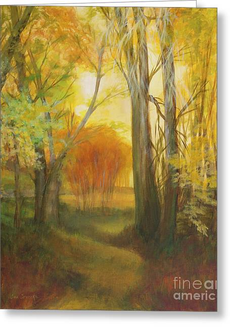 Buttermilk Falls Greeting Cards - Autumn Aspen Grove Greeting Card by Sue Cervenka