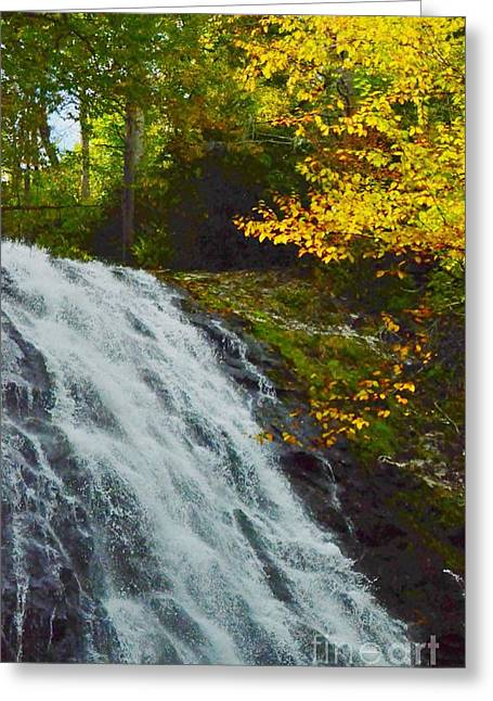 Struckle Greeting Cards - Autumn At Apple Creek Falls Greeting Card by Kathleen Struckle