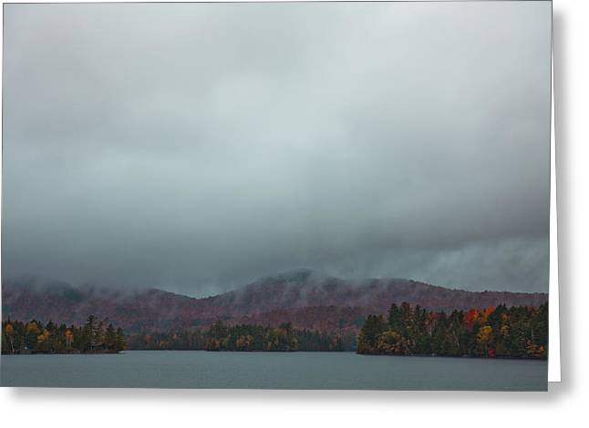 Fir Trees Greeting Cards - Autumn at Blue Mountain Lake Greeting Card by David Patterson