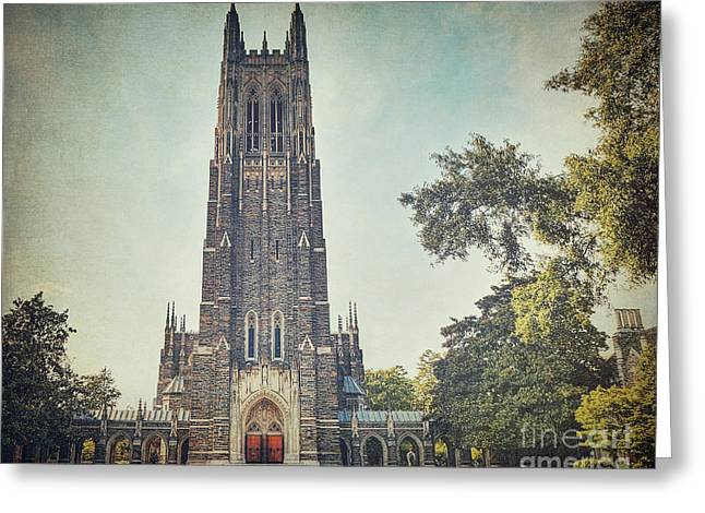 Religious Art Greeting Cards - Autumn at Duke Chapel Greeting Card by Emily Enz