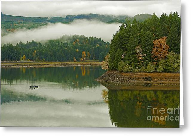 Boren Greeting Cards - Autumn At Foster Lake Greeting Card by Nick  Boren