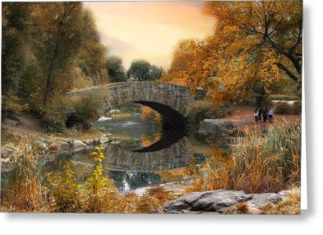 Autumn At Gapstow Bridge Greeting Card by Jessica Jenney