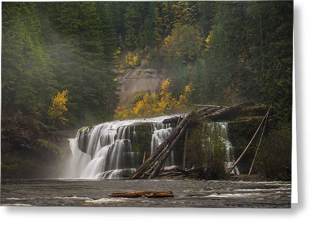 Autumn At Lower Falls Greeting Card by Loree Johnson