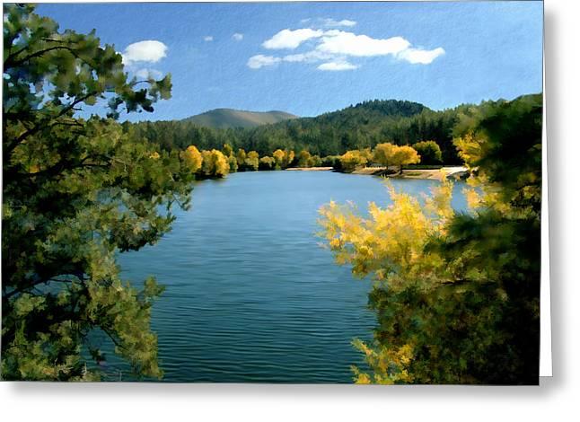 Prescott Digital Greeting Cards - Autumn at Lynx Lake Greeting Card by Kurt Van Wagner