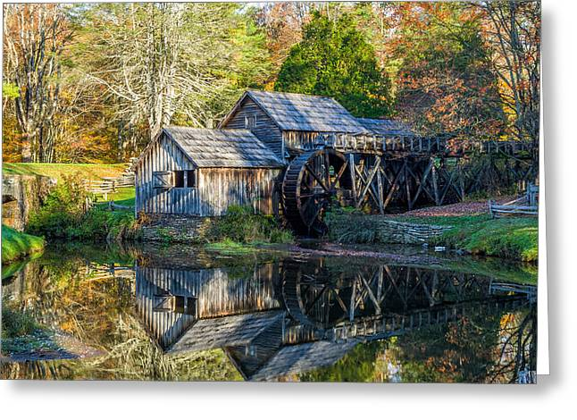 Photos Of Autumn Greeting Cards - Autumn at Mabry Mill Greeting Card by Lori Coleman