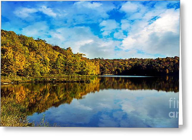 Autumn At Sailboat Cove Greeting Card by Andee Design