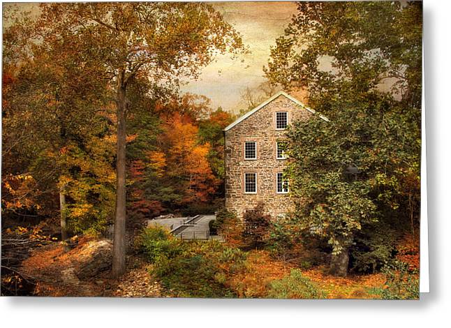 Mills Digital Greeting Cards - Autumn At Stone Mill Greeting Card by Jessica Jenney