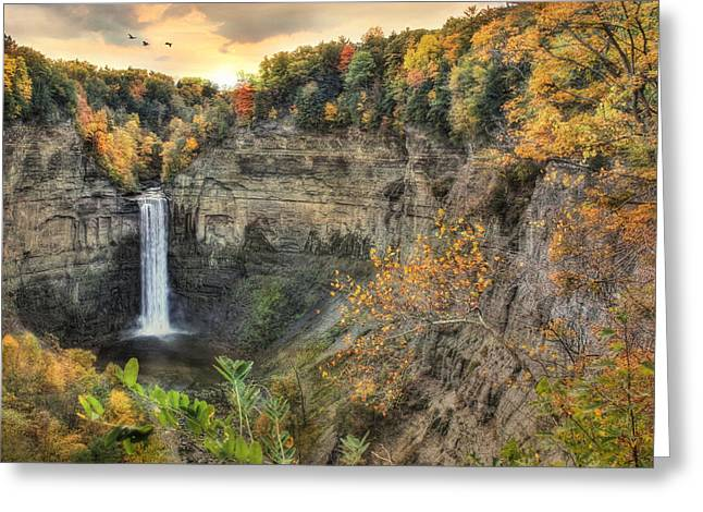 Autumn At Taughannock Falls Greeting Card by Lori Deiter